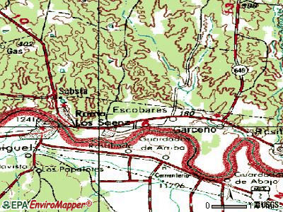 North Escobares topographic map