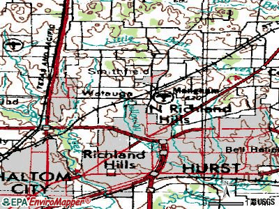 North Richland Hills topographic map