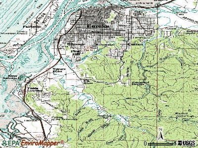 Pine Hills topographic map