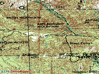 Pine Mountain Club topographic map