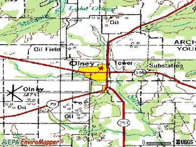 Olney topographic map