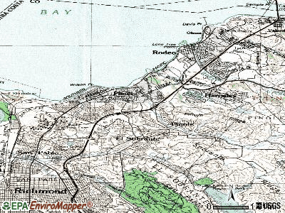 Pinole topographic map