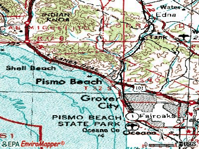 Pismo Beach topographic map