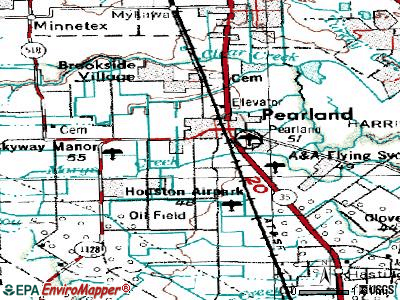 Pearland topographic map