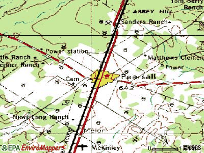Pearsall topographic map