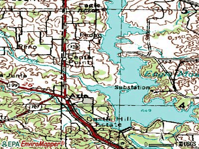 Pelican Bay topographic map