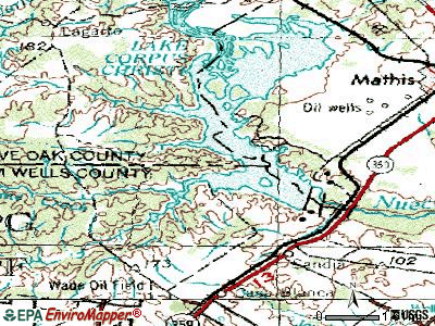 Pernitas Point topographic map
