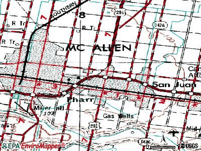 Pharr topographic map