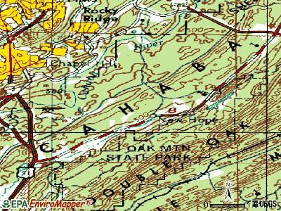 Indian Springs Village topographic map