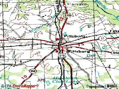 Pittsburg topographic map
