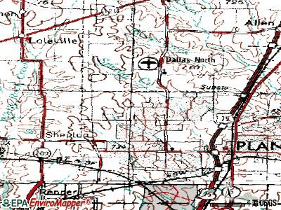 Plano topographic map
