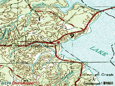 Point Blank topographic map