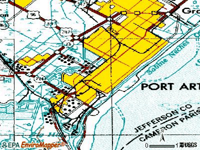 Port Arthur topographic map