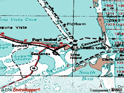 Port Isabel topographic map