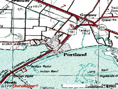 Portland topographic map