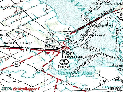 Port Lavaca topographic map