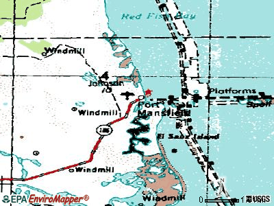Port Mansfield topographic map