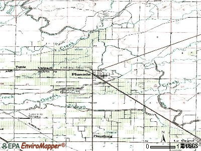 Planada topographic map