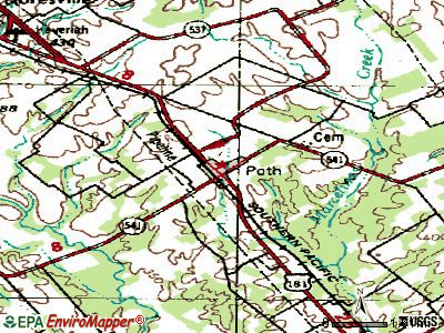 Poth topographic map