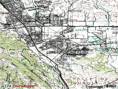 Pleasanton topographic map