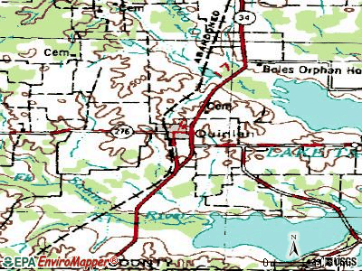 Quinlan topographic map