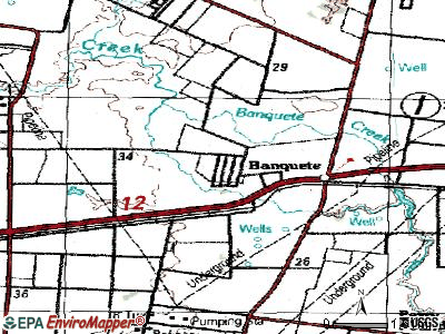Rancho Banquete topographic map