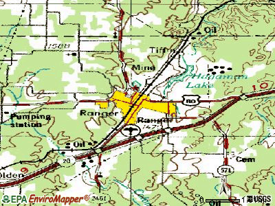 Ranger topographic map