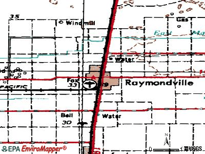 Raymondville topographic map
