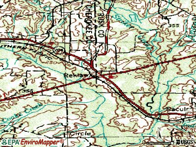 Reklaw topographic map