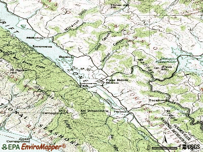 Point Reyes Station topographic map