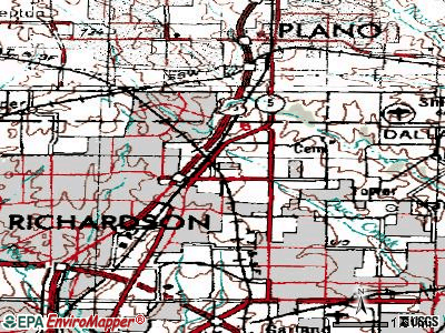 Richardson topographic map