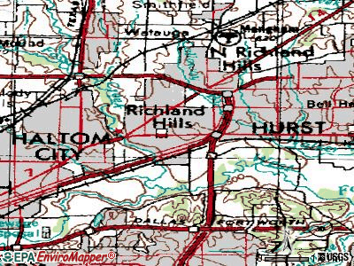 Richland Hills topographic map