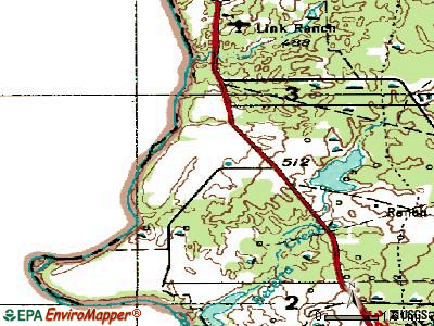 Rio Bravo topographic map