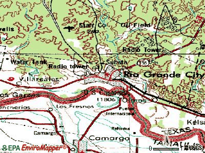 Rio Grande City topographic map
