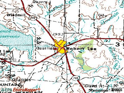Robert Lee topographic map