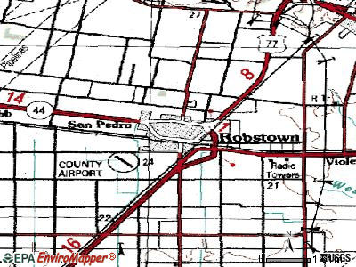 Robstown topographic map