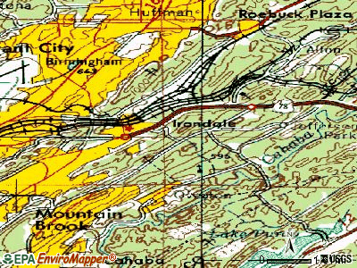 Irondale topographic map