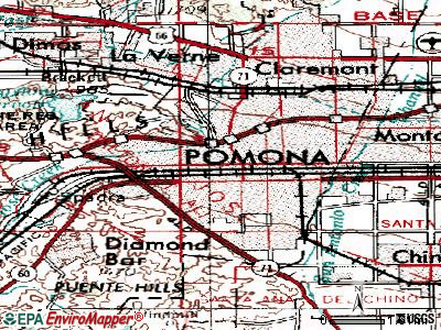 Pomona topographic map