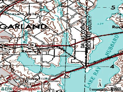Rowlett topographic map