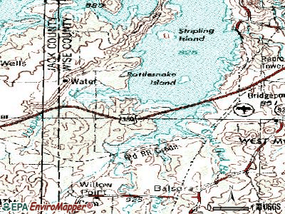 Runaway Bay topographic map