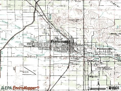 Porterville topographic map