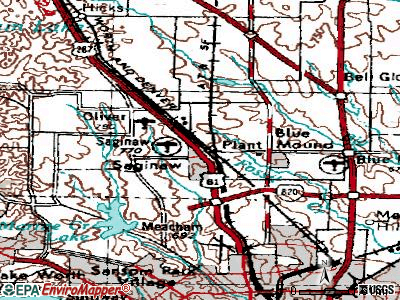 Saginaw topographic map