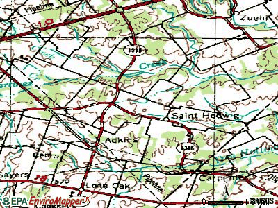 St. Hedwig topographic map