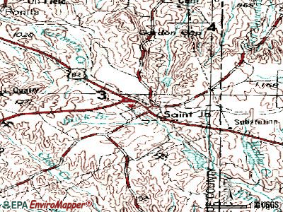 St. Jo topographic map