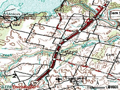 Salado topographic map