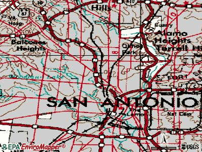 San Antonio topographic map
