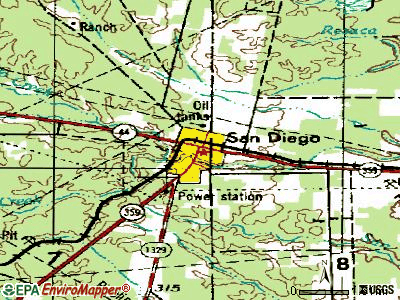 San Diego topographic map