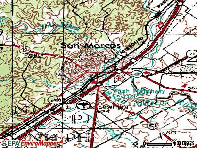 San Marcos topographic map