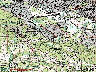 Portola Valley topographic map