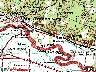Santa Cruz topographic map